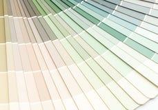 το δείγμα χρωματίζει το pantone καταλόγων στοκ φωτογραφία
