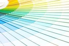 το δείγμα χρωματίζει το pantone καταλόγων στοκ εικόνες