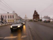 Το Δεκέμβριο του 2017 Ρωσία του Βλαντιμίρ χειμερινών κεντρικό δρόμων Στοκ φωτογραφίες με δικαίωμα ελεύθερης χρήσης