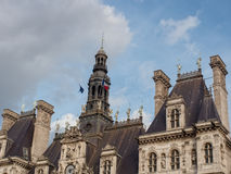 Το Δημαρχείο στο Παρίσι, Γαλλία στοκ εικόνες με δικαίωμα ελεύθερης χρήσης