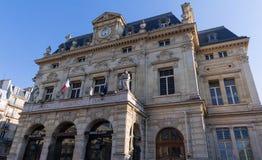 Το Δημαρχείο της XVIII περιοχής του Παρισιού, Γαλλία στοκ φωτογραφία