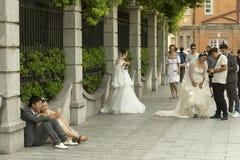 Το δημοφιλές σημείο παραχώρησης της Σαγκάη γαλλικό για τις γαμήλιες φωτογραφίες Στοκ εικόνα με δικαίωμα ελεύθερης χρήσης