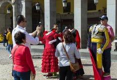 Το δημοφιλέστερο τετράγωνο της πόλης που επισκέπτεται από τους τουρίστες και τους φιλοξενουμένους του δημάρχου της Μαδρίτης Plaza Στοκ φωτογραφία με δικαίωμα ελεύθερης χρήσης