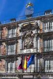 Το δημοφιλέστερο τετράγωνο της πόλης που επισκέπτεται από τους τουρίστες και τους φιλοξενουμένους του δημάρχου της Μαδρίτης Plaza Στοκ Φωτογραφίες