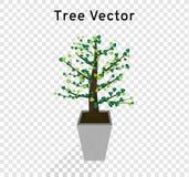 Το διάνυσμα δέντρων διαδίδει τη μορφή καρδιών των πράσινων φύλλων στα  ελεύθερη απεικόνιση δικαιώματος