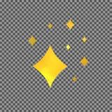 Το διάνυσμα λάμπει χρυσό σύμβολο, που απομονώνεται στο διαφανές σχέδιο Elemet υποβάθρου διανυσματική απεικόνιση