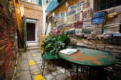 Το διάσημο βιβλιοπωλείο στη Βενετία Στοκ Φωτογραφία