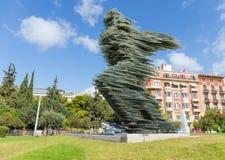 Το διάσημο γλυπτό Dromeas, ορόσημο της Αθήνας, Ελλάδα Στοκ εικόνες με δικαίωμα ελεύθερης χρήσης