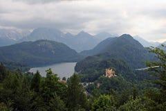 Το διάσημο hohenschwangau κάστρων του βασιλιά Ludwig Στοκ εικόνες με δικαίωμα ελεύθερης χρήσης