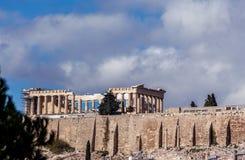 Το διάσημο Parthenon της ακρόπολη, Αθήνα, Ελλάδα Στοκ Εικόνα