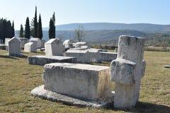 Το διάσημο stecci στη μεσαιωνική νεκρόπολη Radimlja στοκ εικόνες με δικαίωμα ελεύθερης χρήσης