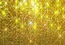 Το διαμάντι λάμπει σε ένα χρυσό υπόβαθρο ελεύθερη απεικόνιση δικαιώματος