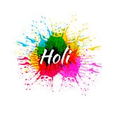 Το ΔΙΑΝΥΣΜΑΤΙΚΟ χρώμα καταβρέχει την απεικόνιση, φεστιβάλ Holi, που απομονώνεται σε άσπρο ζωηρόχρωμο Splatter Στοκ εικόνες με δικαίωμα ελεύθερης χρήσης