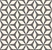 Το διανυσματικό άνευ ραφής σχέδιο, επαναλαμβάνει τη γεωμετρική σύσταση, μαύρη Στοκ Φωτογραφίες