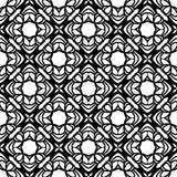 Το διανυσματικό μαύρο λευκό επαναλαμβάνει τα σχέδια Στοκ εικόνα με δικαίωμα ελεύθερης χρήσης