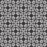 Το διανυσματικό μαύρο λευκό επαναλαμβάνει τα σχέδια στοκ εικόνα
