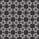 Το διανυσματικό μαύρο λευκό επαναλαμβάνει τα σχέδια στοκ εικόνες