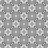 Το διανυσματικό μαύρο λευκό επαναλαμβάνει τα σχέδια στοκ φωτογραφία