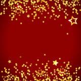 Το διανυσματικό μεταλλικό χρυσό υπόβαθρο αστεριών ακτινοβολεί λαμπρός ψεκασμός διακοσμήσεων διανυσματική απεικόνιση