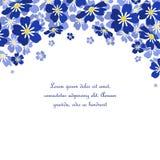 Το διανυσματικό μπλε με ξεχνά όχι λουλούδια Στοκ Φωτογραφίες