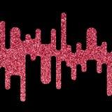 Το διανυσματικό ροζ ακτινοβολεί αφηρημένο υπόβαθρο κυμάτων Στοκ φωτογραφία με δικαίωμα ελεύθερης χρήσης