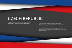 Το διανυσματικό υπόβαθρο με τα τσεχικά χρώματα και το ελεύθερο γκρίζο  διανυσματική απεικόνιση