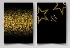Το διανυσματικό υπόβαθρο με το χρυσό λαμπρό χρυσό αστεριών ακτινοβολεί ελεύθερη απεικόνιση δικαιώματος