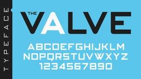 Το διανυσματικό φουτουριστικό διακοσμητικό σχέδιο πηγών βαλβίδων, αλφάβητο, ty Στοκ φωτογραφίες με δικαίωμα ελεύθερης χρήσης