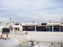 Το διυλιστήριο πετρελαίου χημικό πετρέλαιο εργοστ&alp Εξοπλισμός για το αρχικό refini πετρελαίου Στοκ φωτογραφίες με δικαίωμα ελεύθερης χρήσης
