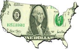 το δολάριο δηλώνει ενωμέ&nu Στοκ Φωτογραφία
