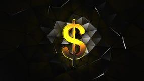 Το δολάριο του χρυσού χρώματος Στοκ φωτογραφίες με δικαίωμα ελεύθερης χρήσης