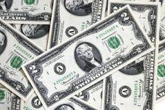 το δολάριο 2 λογαριασμών & Στοκ εικόνες με δικαίωμα ελεύθερης χρήσης