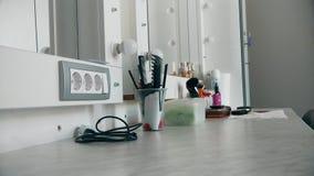 Το δωμάτιο Makeup και αποτελεί την εξάρτηση χωρίς ανθρώπους απόθεμα βίντεο
