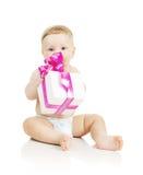 το δώρο μωρών δίνει μικρό Στοκ φωτογραφία με δικαίωμα ελεύθερης χρήσης