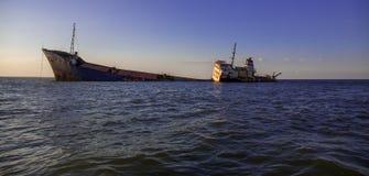 Το εγκαταλειμμένο σκάφος στο δέλτα Δούναβη Στοκ φωτογραφία με δικαίωμα ελεύθερης χρήσης