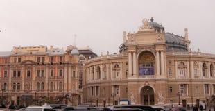 Το εθνικό ακαδημαϊκό θέατρο της Οδησσός της όπερας και του μπαλέτου Στοκ Εικόνες