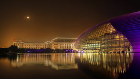 Το εθνικό κέντρο των τεχνών προς θέαση στην Κίνα Στοκ Φωτογραφίες