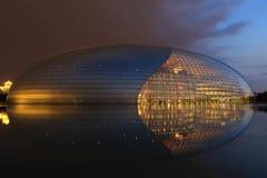 Το εθνικό μεγάλο θέατρο της Κίνας στο Πεκίνο Στοκ Φωτογραφία
