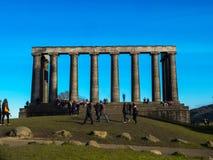 Το εθνικό μνημείο στο Hill κεντρικό Εδιμβούργο Σκωτία Μεγάλη Βρετανία UK Ευρώπη Calton Στοκ Εικόνες