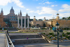 Το Εθνικό Μουσείο στη Βαρκελώνη. Ισπανία Στοκ εικόνες με δικαίωμα ελεύθερης χρήσης