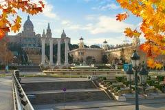 Το Εθνικό Μουσείο στη Βαρκελώνη Ισπανία Στοκ Φωτογραφία
