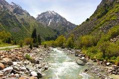 Το εθνικό πάρκο της ΑΛΑ Archa στα βουνά Tian Shan Bishkek Κιργιστάν Στοκ φωτογραφίες με δικαίωμα ελεύθερης χρήσης