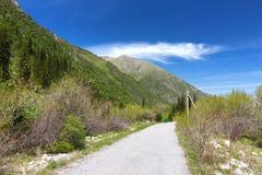 Το εθνικό πάρκο της ΑΛΑ Archa στα βουνά Tian Shan Bishkek Κιργιστάν Στοκ Φωτογραφίες