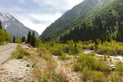 Το εθνικό πάρκο της ΑΛΑ Archa στα βουνά Tian Shan Bishkek Κιργιστάν Στοκ εικόνες με δικαίωμα ελεύθερης χρήσης