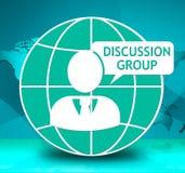 Το εικονίδιο ομάδας συζήτησης παρουσιάζει στο κοινοτικό φόρουμ τρισδιάστατη απεικόνιση Στοκ φωτογραφία με δικαίωμα ελεύθερης χρήσης
