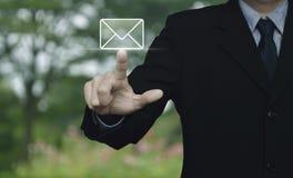 Το εικονίδιο ταχυδρομείου, μας έρχεται σε επαφή με έννοια Στοκ εικόνα με δικαίωμα ελεύθερης χρήσης