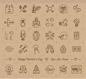 Το εικονίδιο βαλεντίνων, εκλεκτής ποιότητας σύμβολα αγάπης, γραμμή γαμήλιου infographics λεπταίνει το ύφος ελεύθερη απεικόνιση δικαιώματος