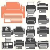 Το εικονίδιο εκτυπωτών κάθεται Στοκ εικόνα με δικαίωμα ελεύθερης χρήσης