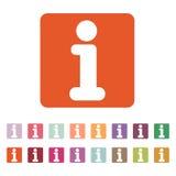 Το εικονίδιο πληροφοριών Πληροφορίες και faq σύμβολο επίπεδος Στοκ φωτογραφίες με δικαίωμα ελεύθερης χρήσης