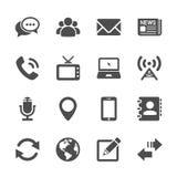 Το εικονίδιο συσκευών επικοινωνίας έθεσε 2, διανυσματικό eps10 διανυσματική απεικόνιση